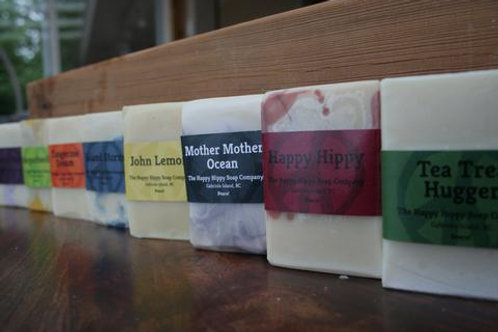 Happy Hippy soap bars (multiple scent options) 6.5 oz