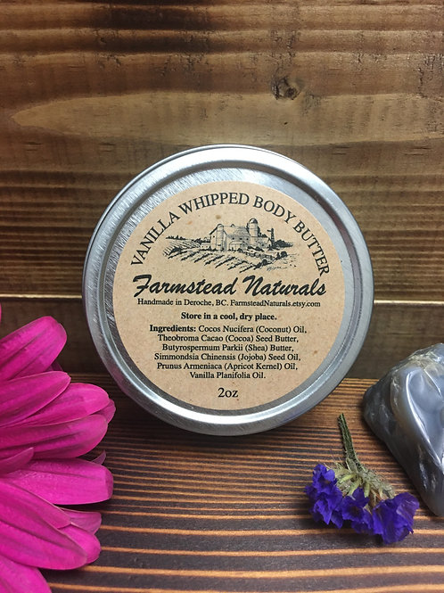 Vanilla whipped body butter 2 oz or 4 oz