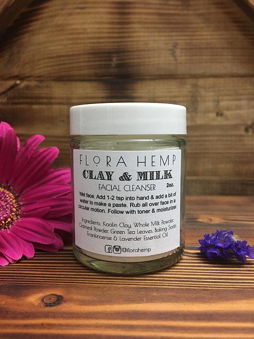 Clay & Milk facial cleanser 2 oz or 4oz