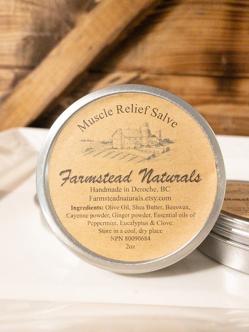 Muscle Relief Salve 2 or 4 oz