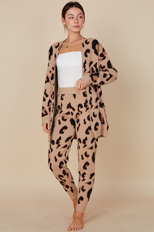 Knitwear Leopard Set - Natural