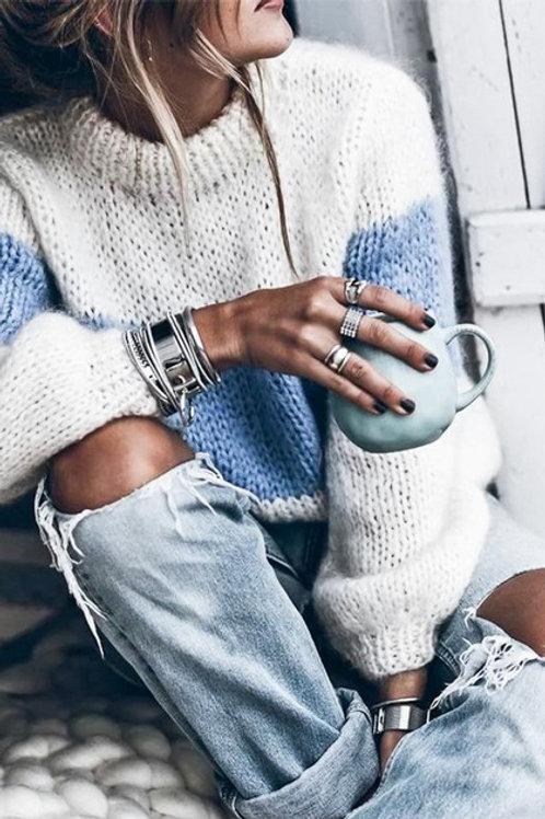 Baby Ivory Mock Turtleneck Sweater