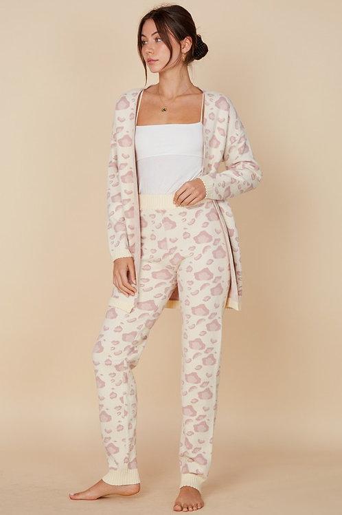 Knitwear Leopard Set - Ivory