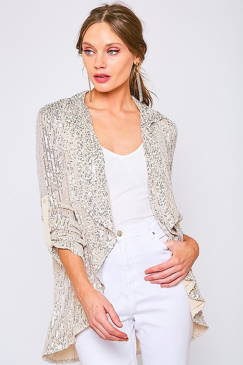 Sequin & Sheer Lounge Jacket