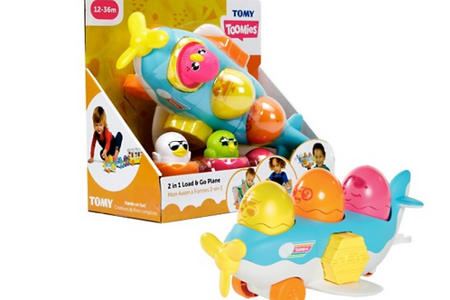 TOMY TOOMIES 2 in 1 Load & Go Plane