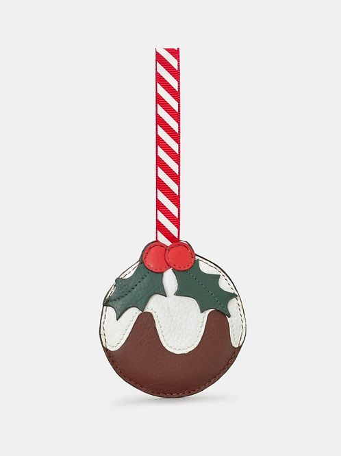 YOSHI Christmas Pudding Brown Leather Tree Decoration