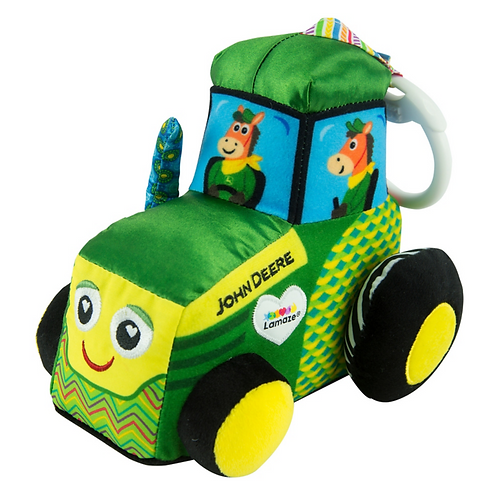 LAMAZE John Deere Clip & Go Tractor Baby Toy