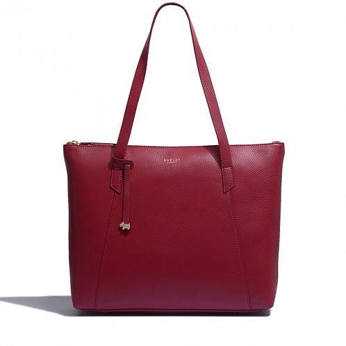 RADLEY Wood Street Large Zip-Top Tote Bag , Rio Red
