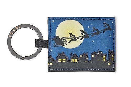 YOSHI Santa Sleigh Leather Key Ring