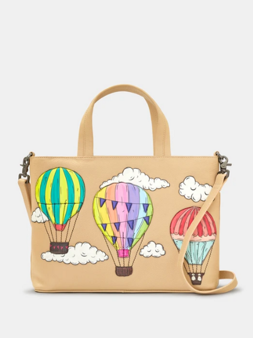 YOSHI Amongst The Clouds Leather Multiway Grab Bag