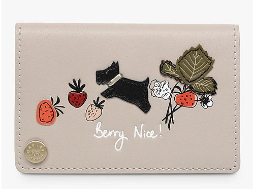 Berry Nice Leather Cardholder, Dove Grey