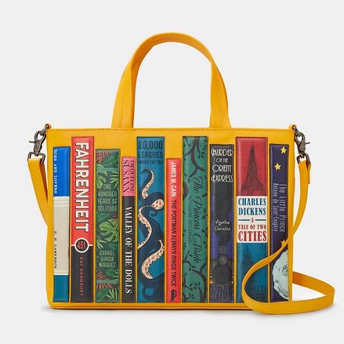 YOSHI Bookworm Yellow Leather Multiway Grab Bag