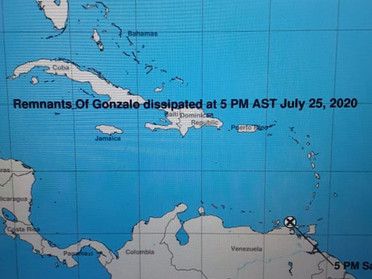 End of Watch for Tropical Storm Gonzalo
