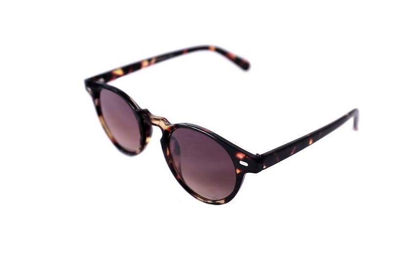Classic small round frame sunglasses 60s 80s 70s Brown