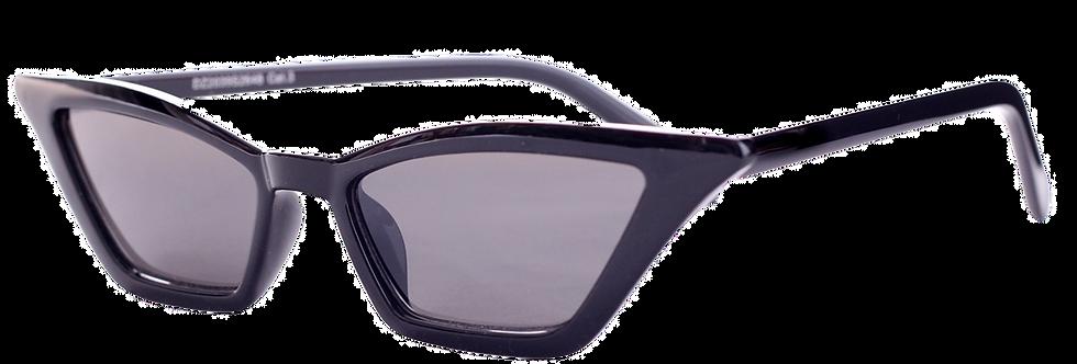 70s 80s eye cat Woman Sunglasses Vintage Retro Style Black