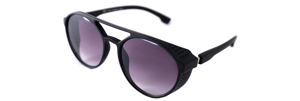 70s Black Unisex Men Women Vintage Aviator Sunglasses