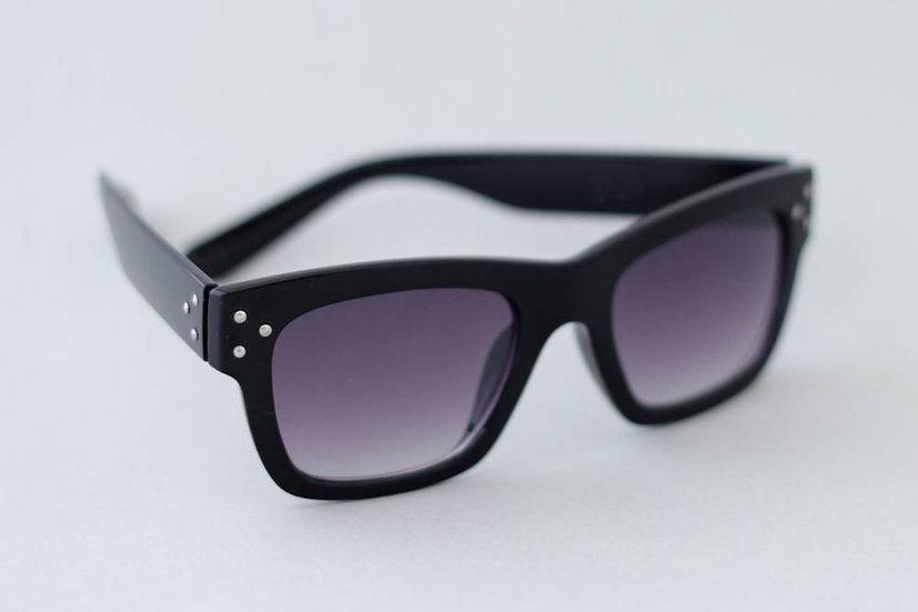 70s 80s vintage rectangular frame black sunglasses