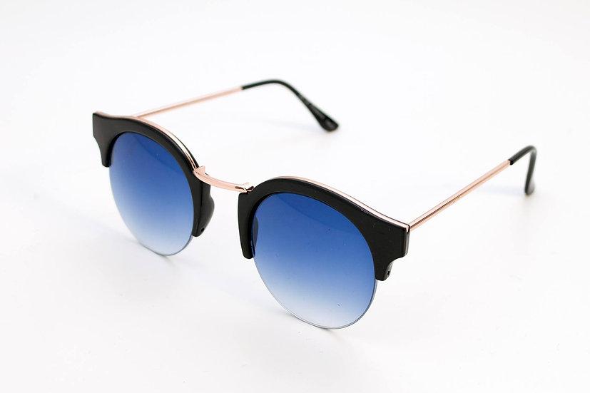 Retro Vintage Round Eyecat Frames 70s sunglasses Blue