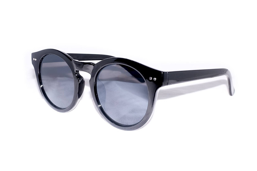 Wayfarer Round Oversized Frame 60s 70s sunglasses black