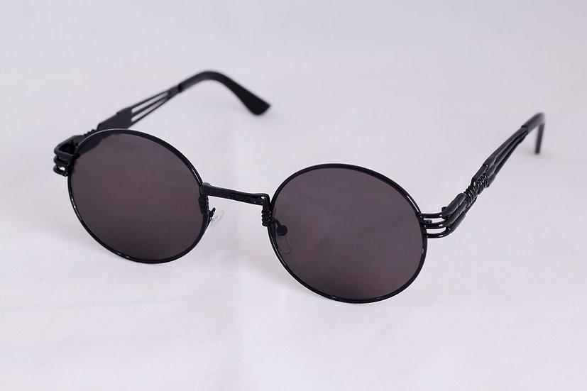 Metal Round Frame 60s 70s 80s black sunglasses