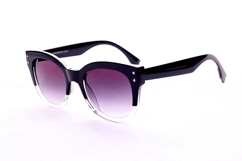 Round 80s Vintage Frame Transparent sunglasses