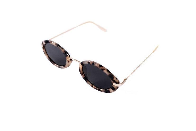Oval lenses retro steampunk 60s 70s sunglasses turtoise