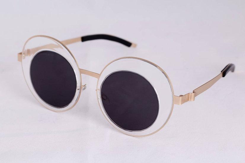 Rare round Transparent Frame 60s 70s Sunglasses Transparent