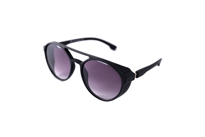Round Sunglasses 60s 70s motorcycle riders Black