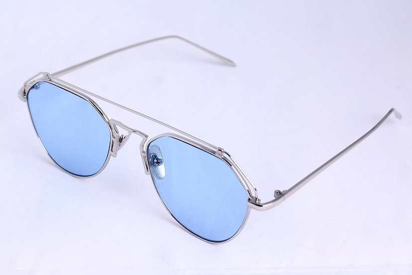 Aviator Metal Frame 60s 70s 80s retro sunglasses blue