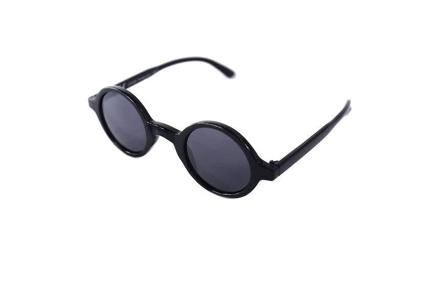 Black Small Round Frames Sunglasses 70s 80s