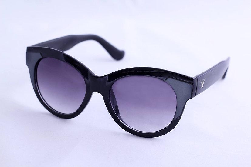 Fashion rare round fancy frame 70s 80s sunglasses black