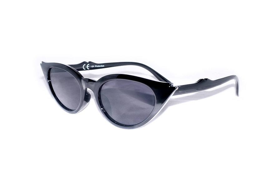Black 60s Eye-cat Small Frame Retro sunglasses