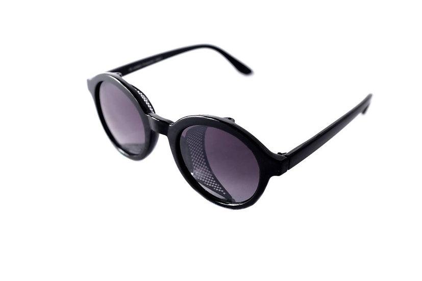 Round lenses steampunk 60s windriders sunglasses black