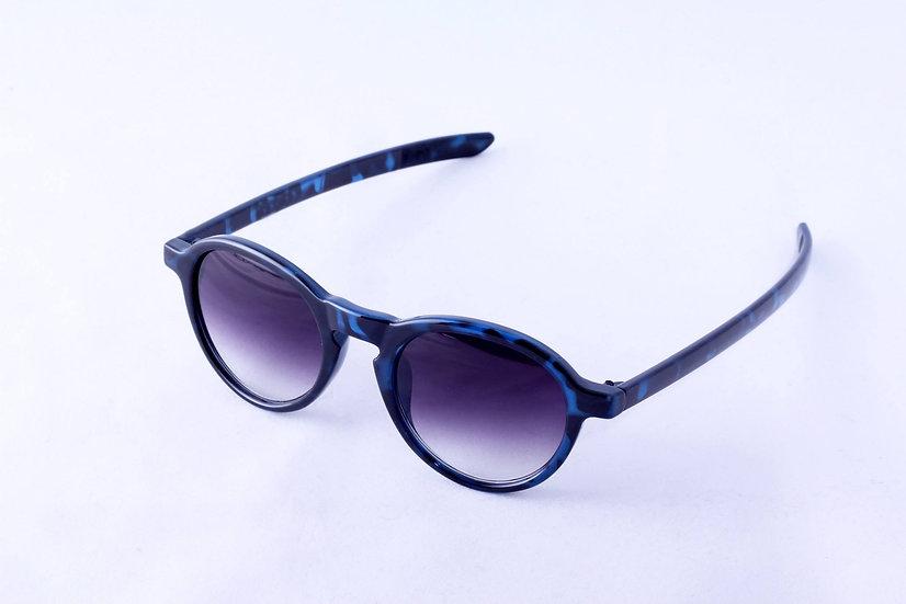 Special Small Round Lenses Retro 80s sunglasses Blue