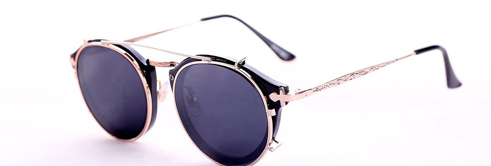70s  80s Aviator Round Double Lenses  sunglasses