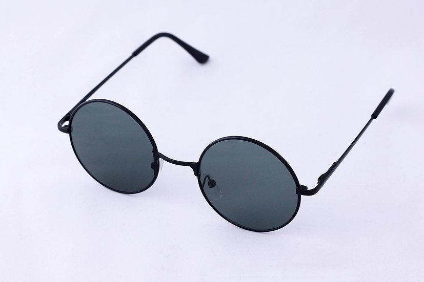 Rare Round Metal Frames Hippies 60s sunglasses Black