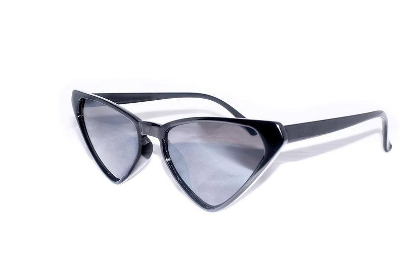 Black 80s sunglasses Triangular Frame Design