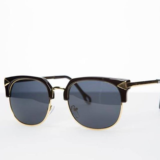 wayfarer rare lens rectangular 70s 80s sunglasses black