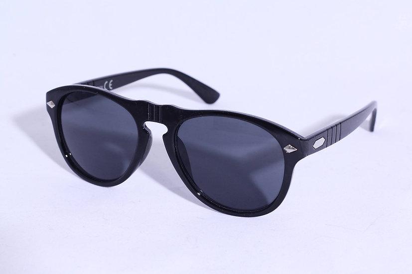 Aviator Wayfarer Round 60s 70s Unisex sunglasses black