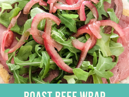 Roast Beef with Arugula and Pickled Onion