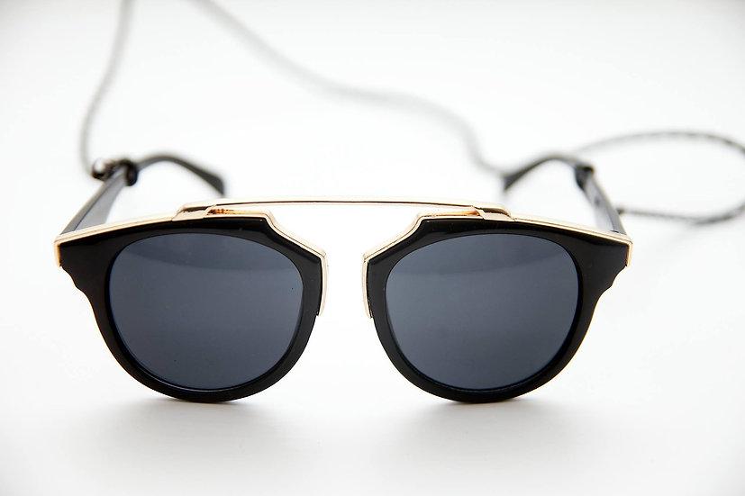 Special Round Lenses frame 70s 90s sunglasses Black