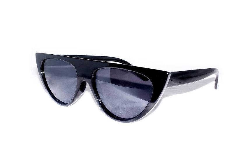 Black Trapezium Straight Frames 1990s sunglasses