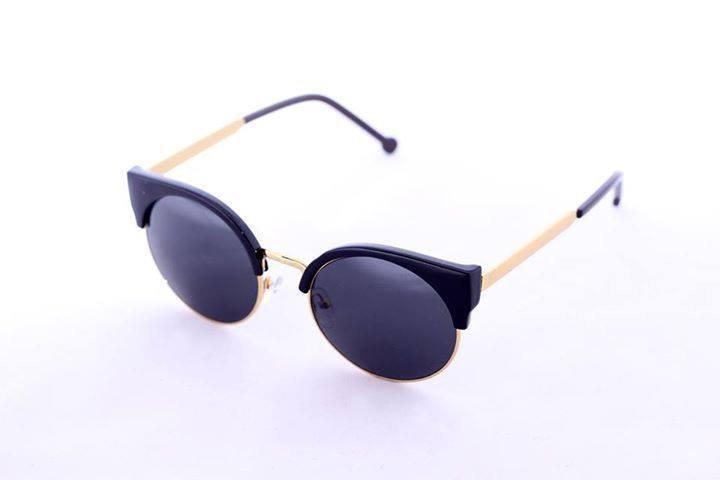 Unique 1970 Eye cat Black Women sunglasses retro