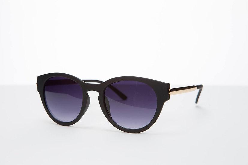Small Round Lenses Eyecat Rare 80s sunglasses Black