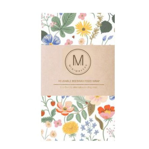 Handmade Beeswax Food wrap by Minimakers-  Wild Foraging (L)