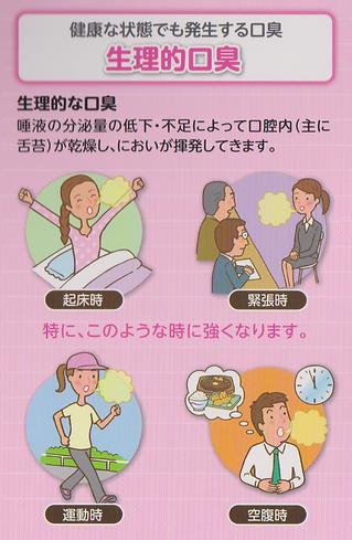 健康な状態でも発生する口臭(生理的口臭)
