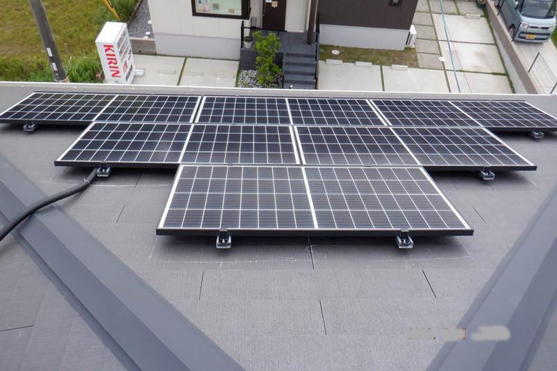 太陽光パネルの設置後の様子