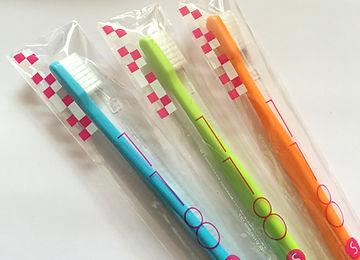 長崎駅前の稲澤歯科医院で使用の使い捨て歯ブラシ