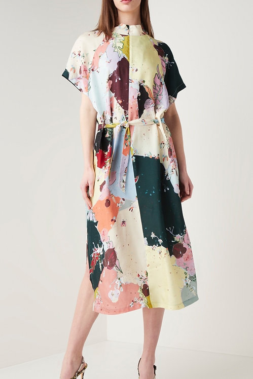 COSTER COPENHAGEN - Flamingo Flower Maxi Dress