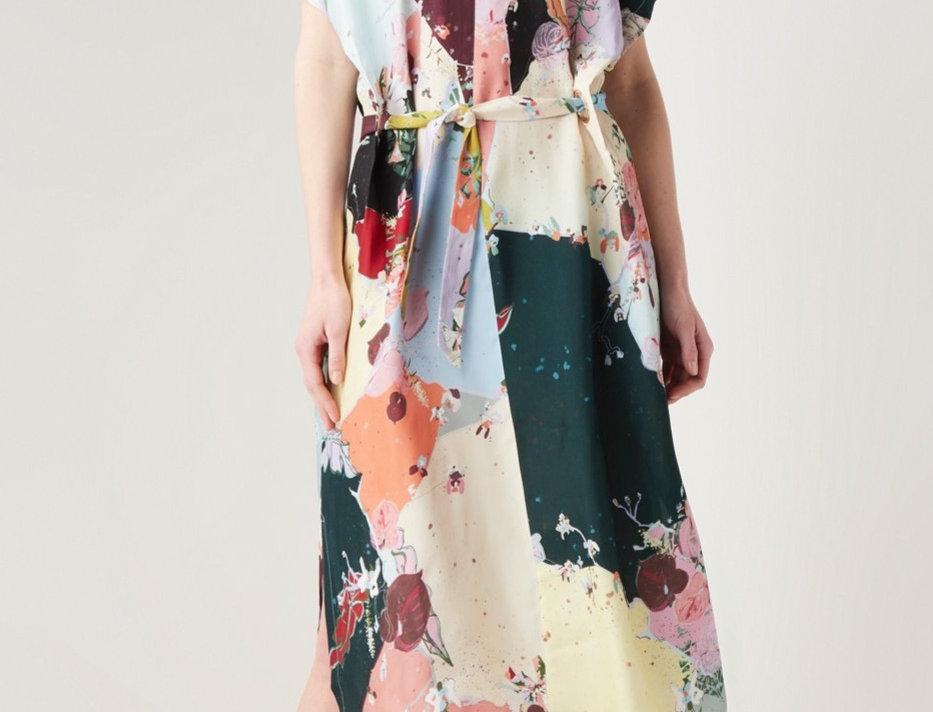 COSTER COPENHAGEN - Flamingo Flower Maxi Dress